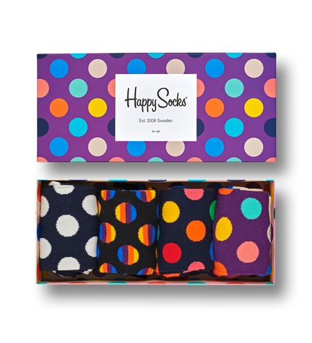 Happy Socks XBDO09-0100 dot gift box